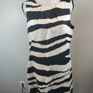 Tweeds 14 Linen Dress Black White Zebra Animal
